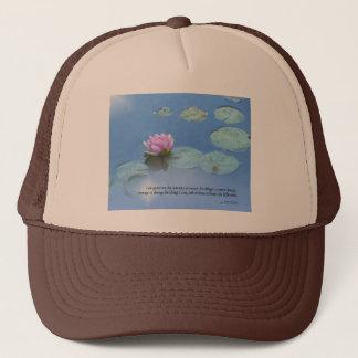 Serenity Prayer Pink Water Lily Trucker Hat