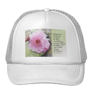 Serenity Prayer Plum Blossom Cap