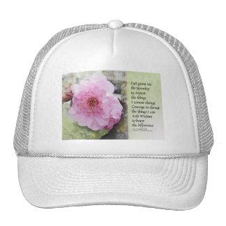 Serenity Prayer Plum Blossom Cap