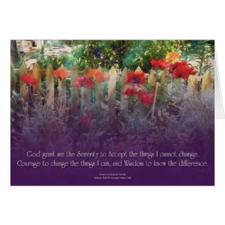 Serenity Prayer Poppies & Fence Card