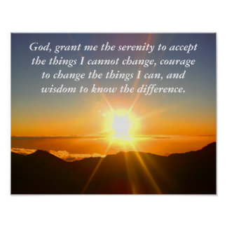 Serenity prayer _ poster