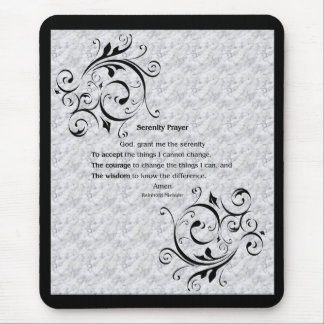 Serenity Prayer Poster Mouse Pad