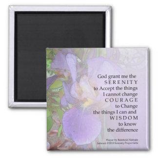 Serenity Prayer Purple Iris Magnet