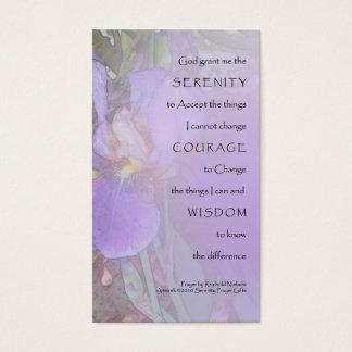 Serenity Prayer Purple Iris Profile Card