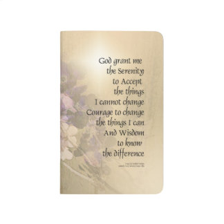 Serenity Prayer Quince and Fence 2 Journal
