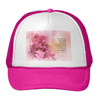 Serenity Prayer Quince Fence 3 Pink Cap