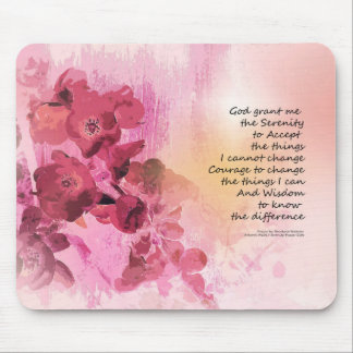 Serenity Prayer Quince Fence 3 Pink Mouse Pad