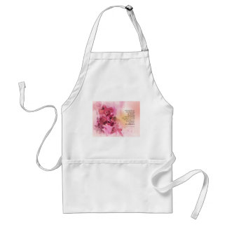 Serenity Prayer Quince Fence 3 Pink Standard Apron