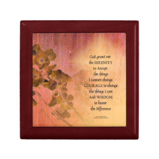 Serenity Prayer Quince Fence One Gift Box