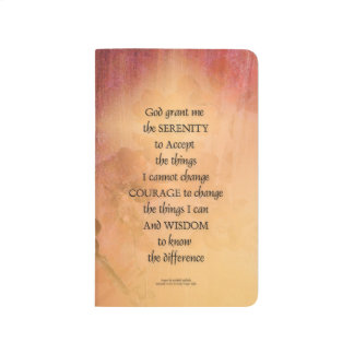 Serenity Prayer Quince Fence One Journal
