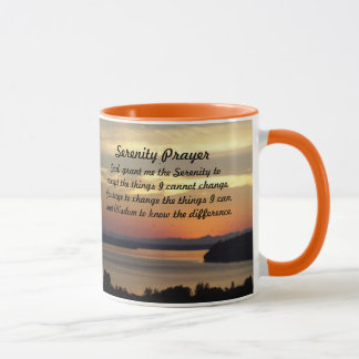 Serenity Prayer Seascape Sunset Photo Coffee Mug