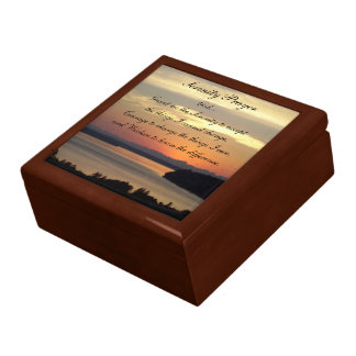 Serenity Prayer Seascape Sunset Photo Gift Box