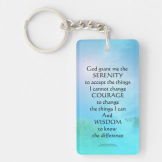 Serenity Prayer September Sky Key Ring