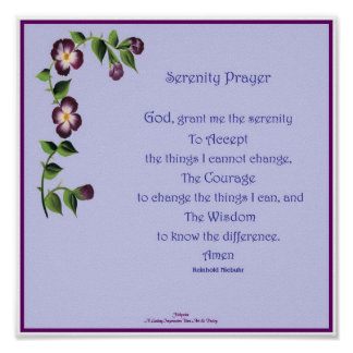Serenity Prayer Short Poster