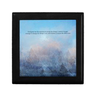 Serenity Prayer Sky and Trees Abstract Gift Box