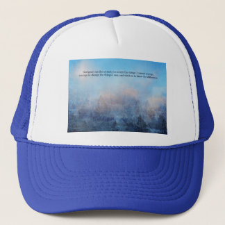 Serenity Prayer Sky and Trees Abstract Trucker Hat