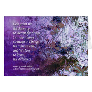 Serenity Prayer Spruce & Myrtle Card