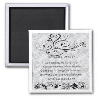 Serenity Prayer Square Magnet
