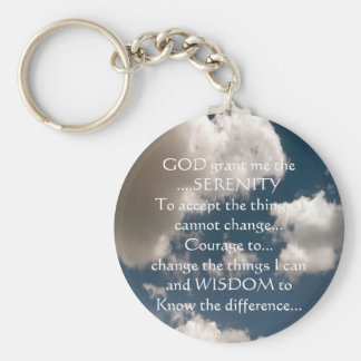 Serenity Prayer Summer Sky Key Ring