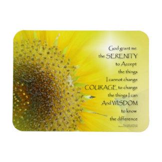 Serenity Prayer Sunflower Glow Magnet