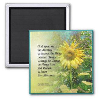 Serenity Prayer Sunflower Magnet