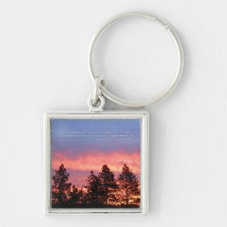 Serenity  Prayer Sunrise Blue Orange Key Ring