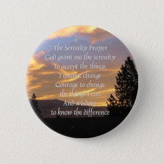 Serenity Prayer Sunrise Button