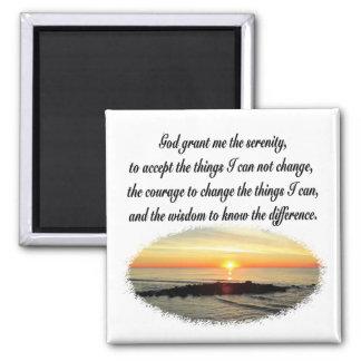 SERENITY PRAYER SUNRISE PHOTO DESIGN MAGNET
