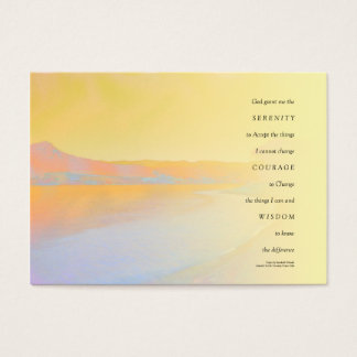 Serenity Prayer Sunset Lake Business Card
