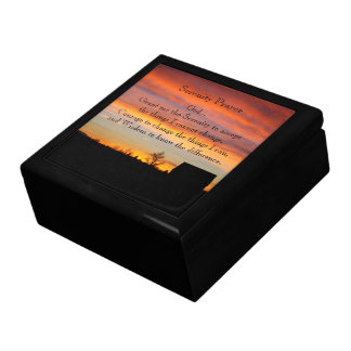Serenity Prayer Sunset Silhouette Photo Gift Box
