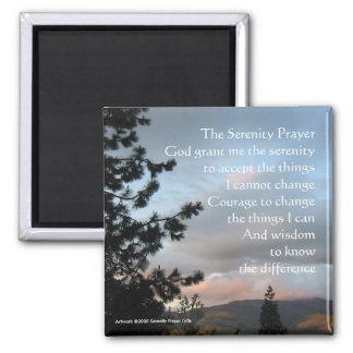 Serenity Prayer Sunset Square Magnet