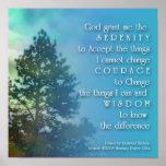 Serenity Prayer Tall Tree Poster