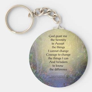 Serenity Prayer Tree Canopy Key Ring