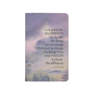 Serenity Prayer Tree Sky Glow Journal