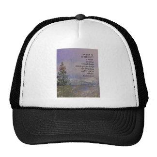 Serenity Prayer Trees Hills Snow Cap
