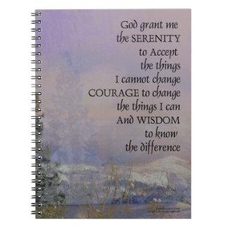 Serenity Prayer Trees Hills Snow Notebooks