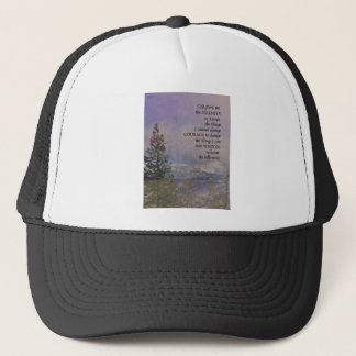 Serenity Prayer Trees Hills Snow Trucker Hat