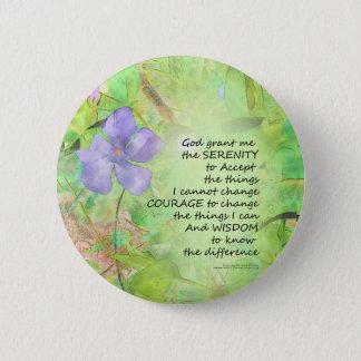 Serenity Prayer Vinca Glow 6 Cm Round Badge