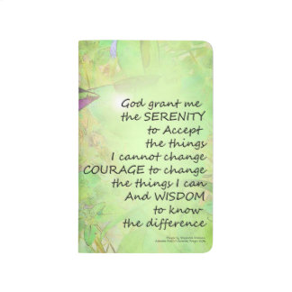 Serenity Prayer Vinca Glow Journal