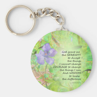 Serenity Prayer Vinca Glow Key Ring