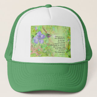 Serenity Prayer Vinca Glow Trucker Hat