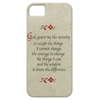 Serenity Prayer-Vintage Style+Burgundy Accents Case For The iPhone 5