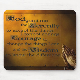 Serenity Prayer w/ Praying Hands Mouse Pad