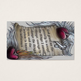 Serenity Prayer wallet card, note lines on back Business Card