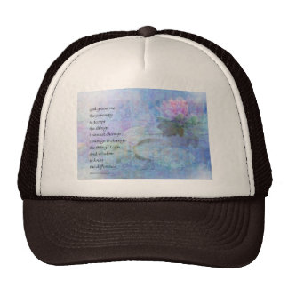 Serenity Prayer Water Lily Wonders Cap