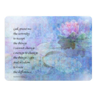 Serenity Prayer Water Lily Wonders Card