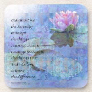 Serenity Prayer Water Lily Wonders Coaster