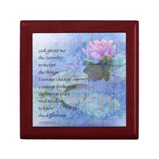 Serenity Prayer Water Lily Wonders Gift Box