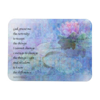 Serenity Prayer Water Lily Wonders Magnet