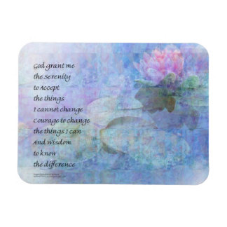 Serenity Prayer Water Lily Wonders Magnet